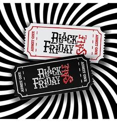 Black Friday Ticket Concept Retro styled Black vector image vector image