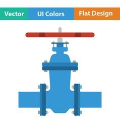 Pipe valve icon vector image vector image