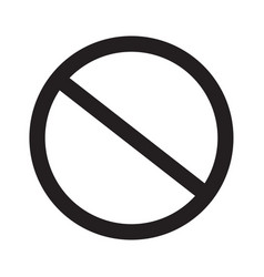 Prohibition sign on white background prohibition vector