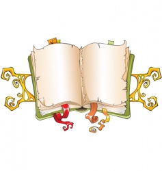 torn book vector image vector image