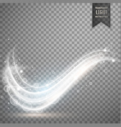 White light streak effect design vector
