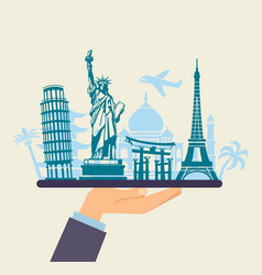 conceptual symbol of traveling around the world vector image vector image