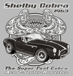 Shelby Cobra 1963 vector image vector image