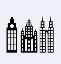 a set of design city elements vector image