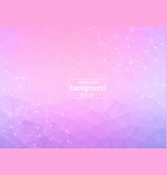 abstract pink polygonal space background with vector image