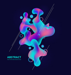 abstract trendy fluid shape bright gradient vector image