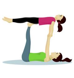 Acro yoga with child vector