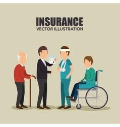 agent insurance healthy design vector image
