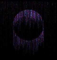 big data visualization circle stream falling vector image