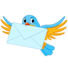 Bird with letter vector