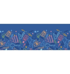 Birthday horizontal seamless pattern background vector image