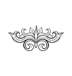 Black isolated hand drawn floral greek decoration vector