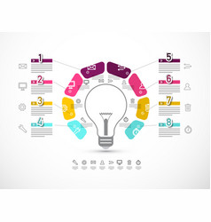 business infographic layout with data flow and vector image