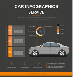Business infographic with car car auto service vector