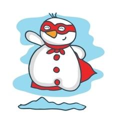 Cartoon super snowman Christmas collection vector