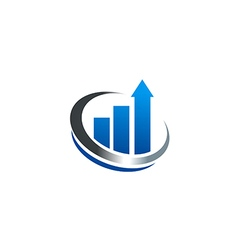 Chart growth business finance cash logo vector
