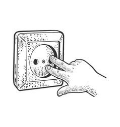 child fingers socket sketch vector image
