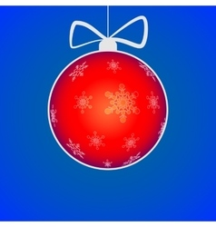 Christmas ball cut from paper vector image