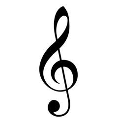 Classic g treble clef music notation symbol vector