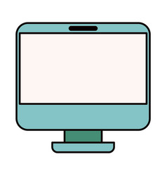 color sketch silhouette modern flat computer vector image
