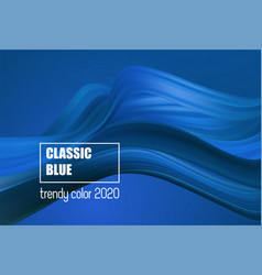 Color year 2020 - classic blue fashion vector