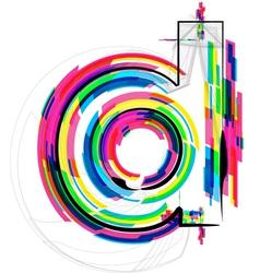 Colorful Font - Letter d vector image