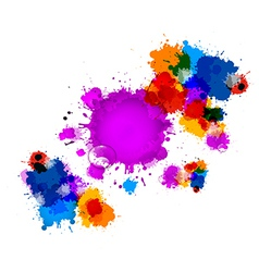 Colorful stains blots splashes background with vector