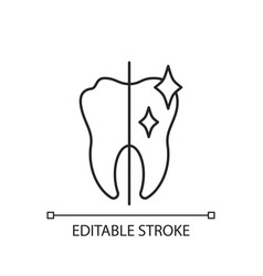 Cosmetic dentistry linear icon vector