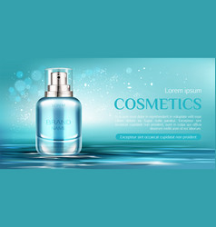 Cosmetic spray bottle mockup banner beauty product vector