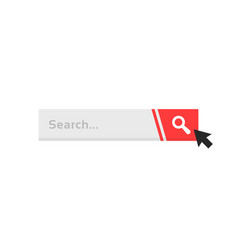 cursor click on simple search bar vector image