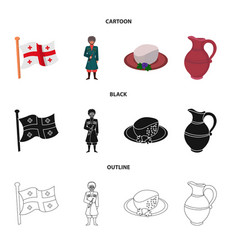 Design of culture and sightseeing logo set vector