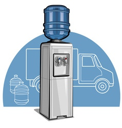 Electric water cooler vector