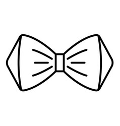elegant bow tie icon outline style vector image