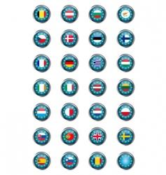 European buttons vector image