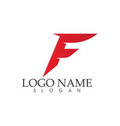 F letter logo and symbols template icons vector