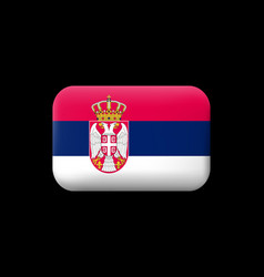 Flag of serbia matted icon and button vector