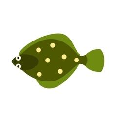 Flounder icon flat style vector image