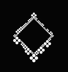 Geometrical abstract monochrome dot badge vector