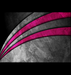 grunge wavy corporate pink and grey abstract vector image