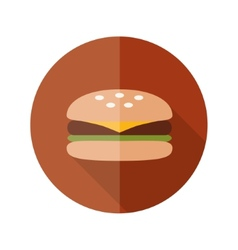 Hamburger flat icon vector