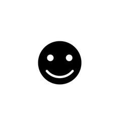 happy smile face flat icon vector image