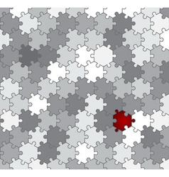 hexagon puzzle vector image