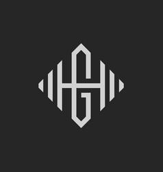 hg or gh letter vector image