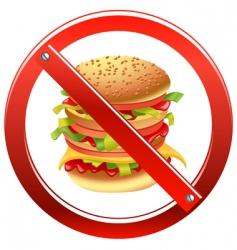 High calorie food vector