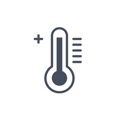 hot temperature weather icon climate forecast vector image