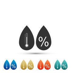 Humidity icon isolated on white background vector