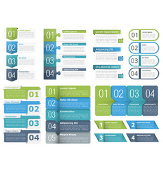 infographic elements with numbers vector image