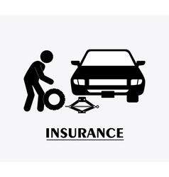 Insurance design vector image