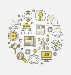 job search circular sign vector image