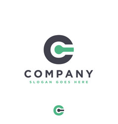 letter c link logo icon vector image